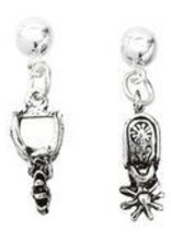 AWST Earrings - Western Spur w/Hat Gift Box