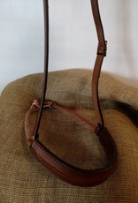 Circle L Circle L Leather Noseband, Caveson, Barb Wire Embossed - Horse Size