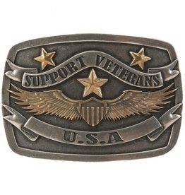 Belt Buckle - Antique Support Veterans USA