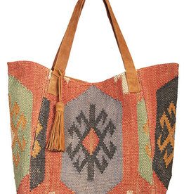 Scully Leather Handbag - Scully Aztec Woven Bag