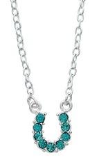 AWST Necklace - Rhinestone Horseshoe