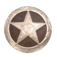 Tough-1 Antique Brown Concho with Silver Overlay