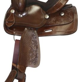 "Double T 10"" Pony/Mini - Double T Saddle - Dark Brown"