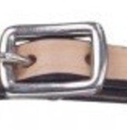 Tough-1 Curb Strap - Miniature Flat Leather, L.Oil