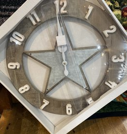 Tough-1 Wall Clock - Metal Star