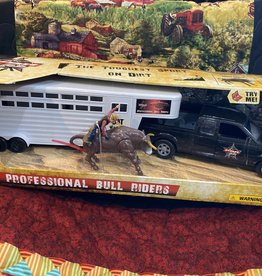 Tough-1 Toy PBR Truck & Trailer Set
