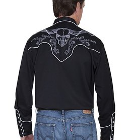 Scully Men's Scully Skull and Roses Snap Front Shirt