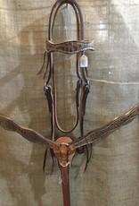 Circle L Circle L Hand Made Leather Tack Set w/Gator Overlay - Horse Size Tan Gator (Reg $199.95 now $40 OFF!)