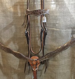 Circle L Circle L Hand Made Leather Tack Set w/Gator Overlay - Horse Size Tan Gator (Reg $199.95 now $40 OFF!)