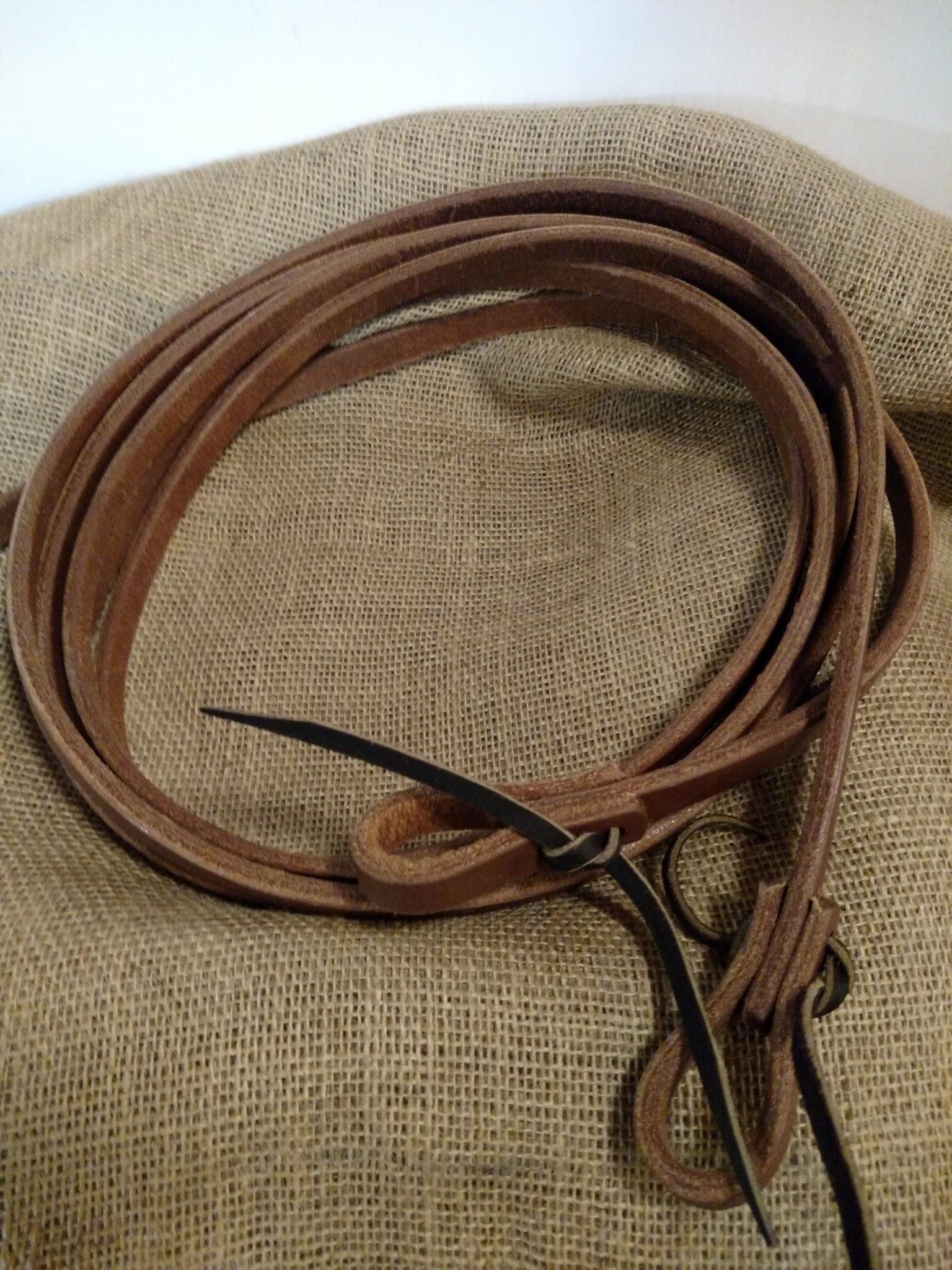 Circle L Circle L Leather Split Reins w/ Tie Ends, U.S.A. Made - 8' Long