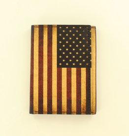 Nocona Wallet - Nocona TriFold Leather Flag