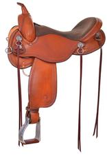 "Circle Y Circle Y Gillette Trail Saddle, 17"" Seat & Wide Bar"