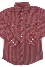 White Horse Children's White Horse Red Stripe Western Shirt