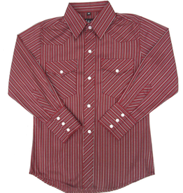 White Horse Children's White Horse Red Stripe Western Shirt