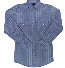 White Horse Men's White Horse Stripe Long Sleeve Shirt, Navy Blue