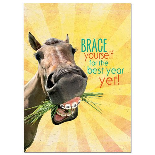 "Card - ""Brace Yourself"" Birthday"