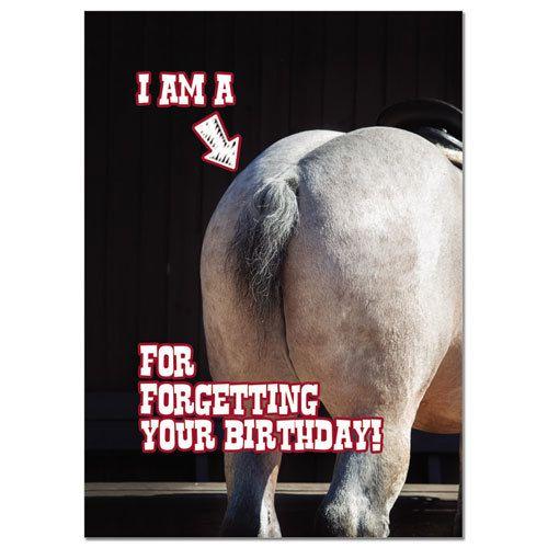 """Card - """"Horses Ass"""" Birthday"""