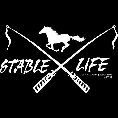 "Decal - ""Stable Life"" Crossed Crops"