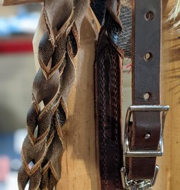 Circle L Leather Softie Braided Game Rein M. Oil and D. Oil - 6.5'