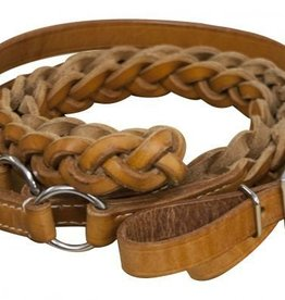 Showman Showman Leather Contest Reins Braided - 7'