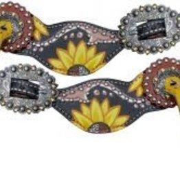 Showman Showman Spur Straps - Ladies Sunflower
