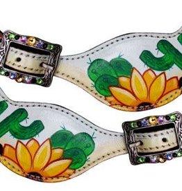 Showman Showman Spur Straps - Ladies Cactus & Sunflowers