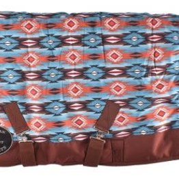 "Showman Showman Pony/Yearling Blanket - 56""-62"" Turquoise Southwest Print"
