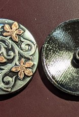 "1.5"" Concho - Silver with Copper Flowers"