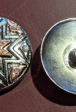 "1.25"" Concho - Silver with Copper Star and Crystals"