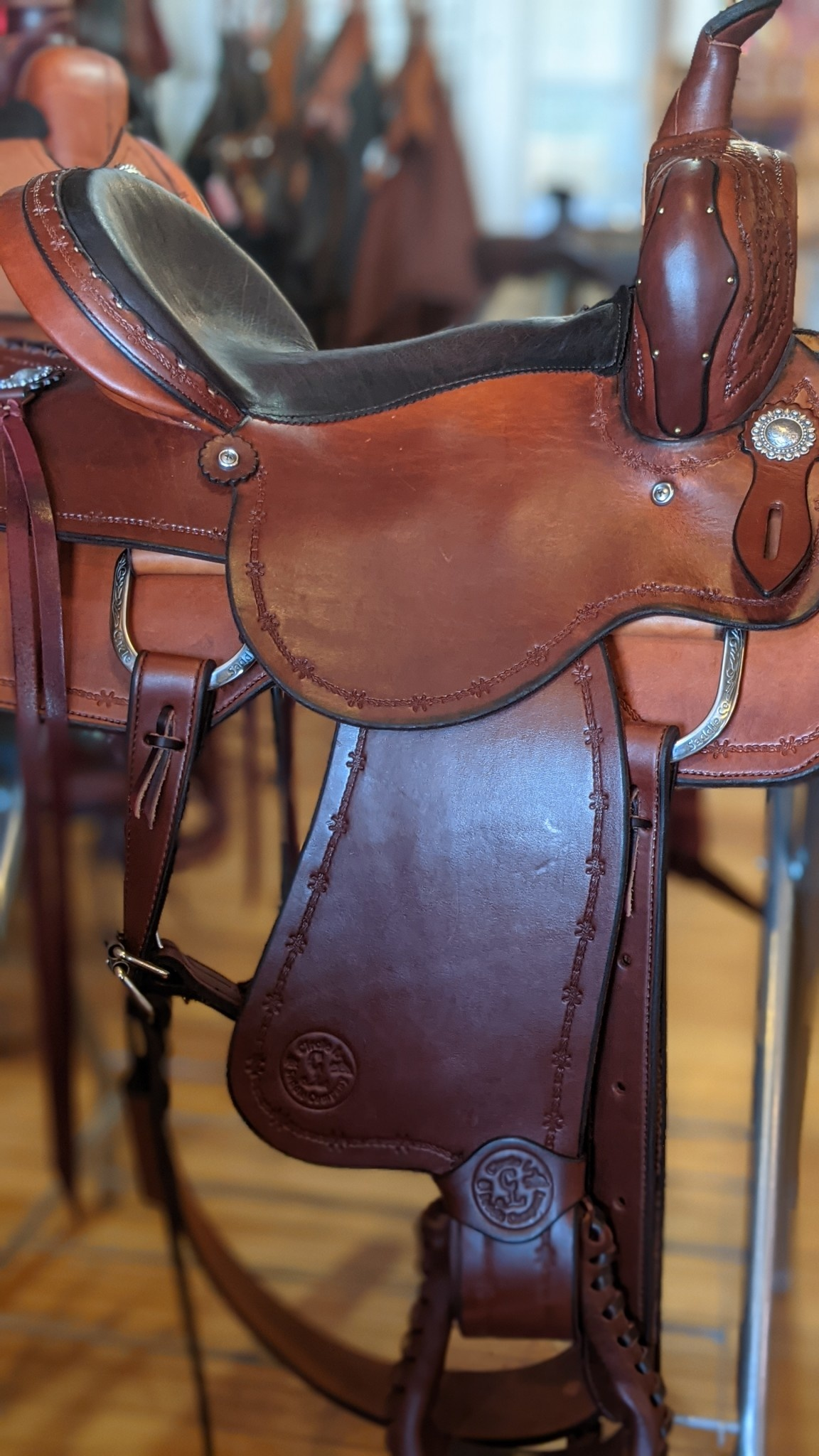 Circle L Circle L Hand Made All Around Saddle, Full Bar