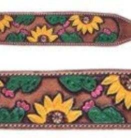 Showman Showman Painted Wither Strap with Sunflowers and Cactus