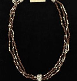 Set - Necklace/Earring - Multi String Cross