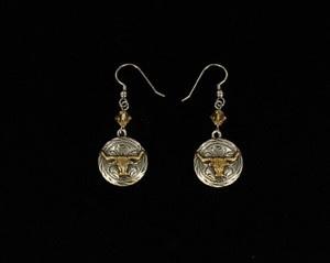 Earrings - Round w/Long Horn