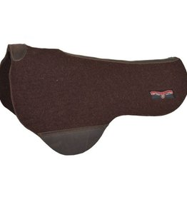 """Circle Y Dropped Rigging Trail Pad - Chocolate - 34""""D x 30""""S x 3/4"""""""
