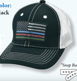 Ball Cap - Justin First Responders Flag - OSFM