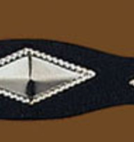 WEX Hat Band - Silver Diamond Concho Black