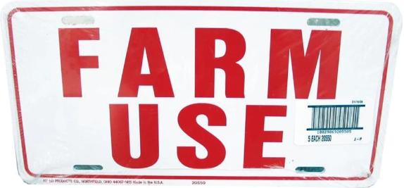 """Farm Use ID Tags - 6""""x 12"""""""