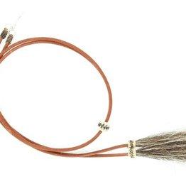 Stampede Strings - Leather with Horsehair Tassels, Brown