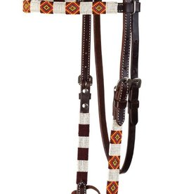 Circle Y Circle Y Infinity Wrap Headstall - Yellow & White Diamond