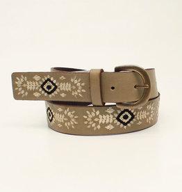 "Nocona Adult Nocona 1 1/4"" Floral Diamond Embroidered Belt"