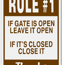 Arrent Sign - Gate Open/Close