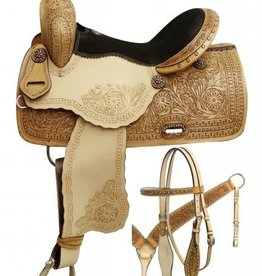 "Double T 16"" WIDE Double T Barrel Saddle Set"