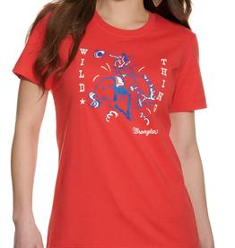 Wrangler Women's Wrangler Retro Graphic Red T-Shirt