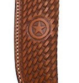 """Western Fashion Accessories Knife Sheath, Basketweave, Texas Star - 3.75"""""""