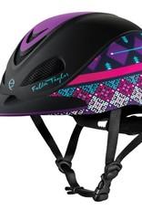 Troxel Fallon Taylor Purple Geo Western Helmet - Medium