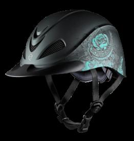 Troxel Troxel Rebel Turquoise Rose Western Helmet