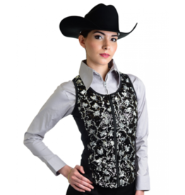 Royal Highness Women's Royal Highness Fitted Silver Vest - Black/Silver Medium