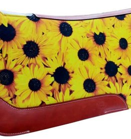 "Showman Showman Sunflower Printed Saddle Pad, 31"" x 32"""