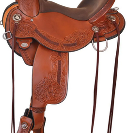 "Circle Y 16"" Wide Circle Y Walnut Grove Flex2 A-Fork Trail Saddle"