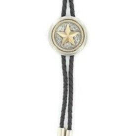 Bolo Tie - Round Concho with Star